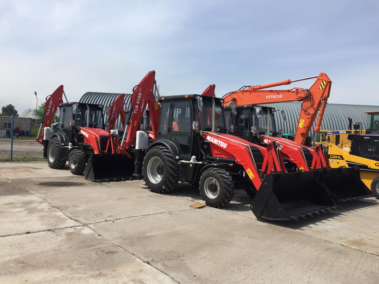 Backhoe loaders Manitou TLB 818S in stock in amount of 8 units